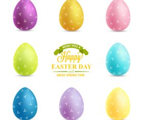 Easter egg with label design vector