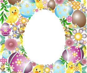 Easter elements pattern vector design