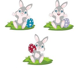 Easter rabbit illustration vector