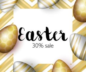 Easter sale 30 off poster vector 01