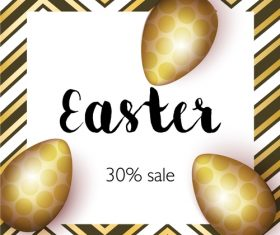 Easter sale 30 off poster vector 02