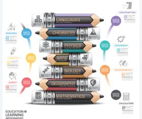 Education with learning infographic template vector 10