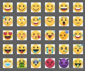 Emoji flat icons