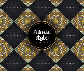 Ethnic styles vector seamless pattern design 05