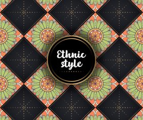 Ethnic styles vector seamless pattern design 06