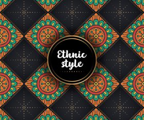 Ethnic styles vector seamless pattern design 07