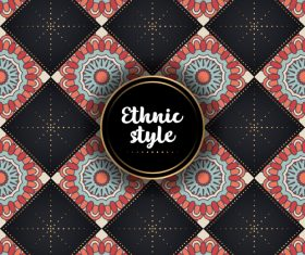 Ethnic styles vector seamless pattern design 08