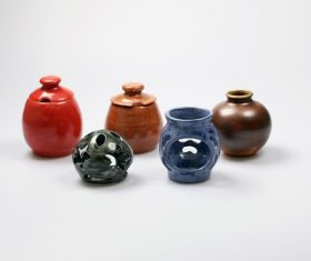 Exquisite ceramic pot Stock Photo