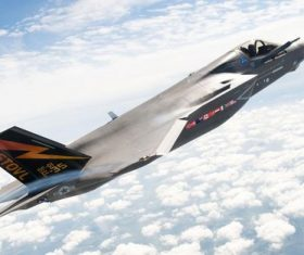 F-35 fighter Stock Photo 03