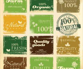 Farm fresh stamp vintage vector