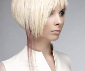 Fashion short hair girl Stock Photo 01