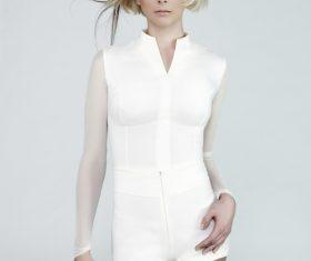 Fashion short hair girl Stock Photo 02