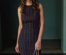 Female clothing model Stock Photo