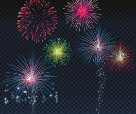 Festival firework beautiful design vector 01