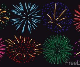 Festival firework beautiful design vector 02