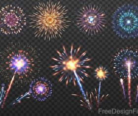 Festival firework beautiful design vector 03