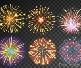 Festival firework beautiful design vector 04