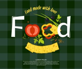 Food made with love design vector 01