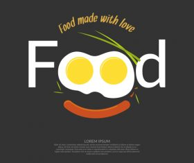 Food made with love design vector 03