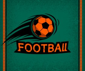 Football club vintage poster design vector 01