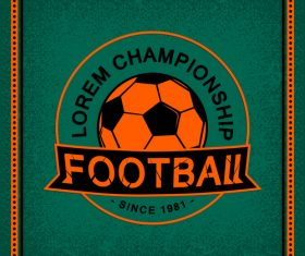 Football club vintage poster design vector 02