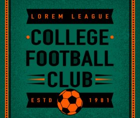 Football club vintage poster design vector 03