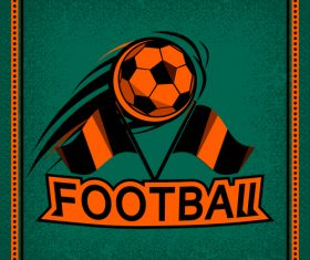 Football club vintage poster design vector 04