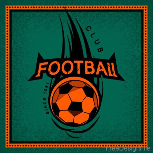 Football club vintage poster design vector 05