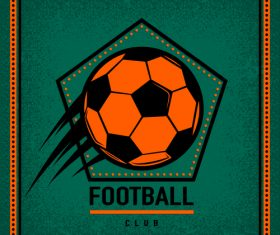 Football club vintage poster design vector 06