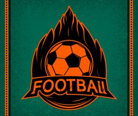 Football club vintage poster design vector 07