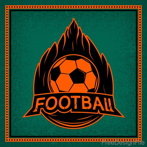 Football club vintage poster design vector 07