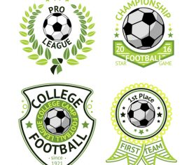 Football logos design vector set 01