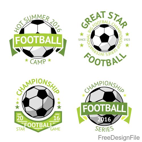 Football logos design vector set 02