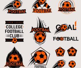 Football logos design vector set