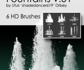 Fountains HD Photoshop Brushes