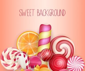 Fresh sweet background vector material 01