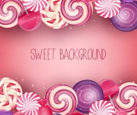 Fresh sweet background vector material 02