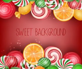 Fresh sweet background vector material 04