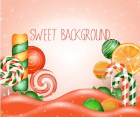 Fresh sweet background vector material 05