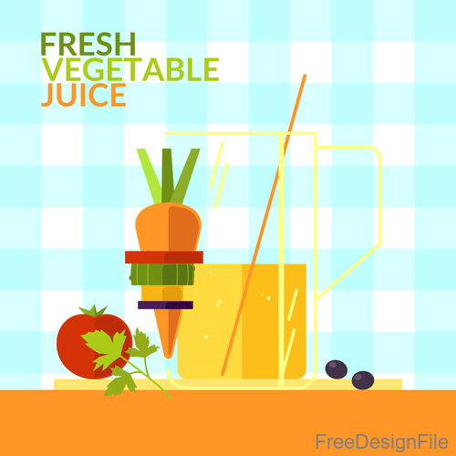 Fresh vegetable juice design vector 01