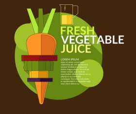 Fresh vegetable juice design vector 02