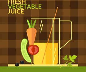 Fresh vegetable juice design vector 03
