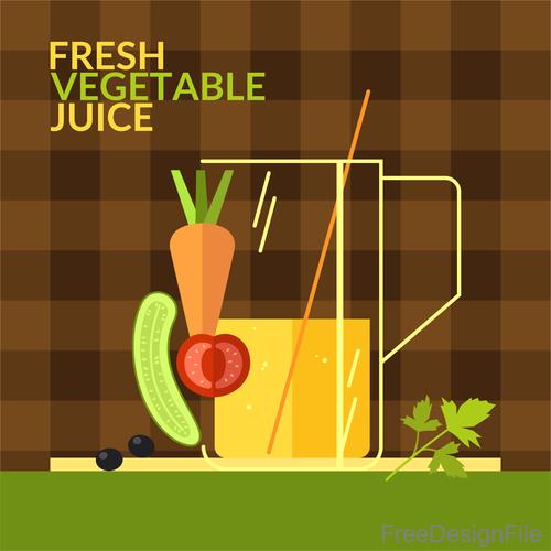Fresh vegetable juice design vector 03