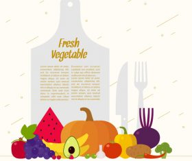 Fresh vegetable poster vector