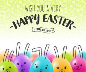 Funny easter egg design vectors 02