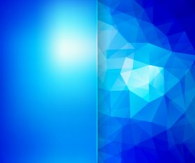 Geometric polygon with shiny blue background vector