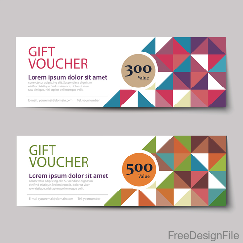 Geometry polygon with gift voucher vector 01