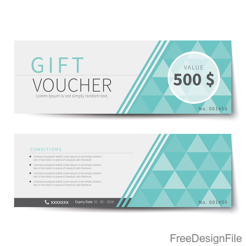 Geometry polygon with gift voucher vector 02