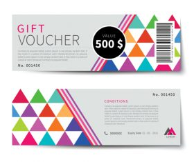 Geometry polygon with gift voucher vector 04