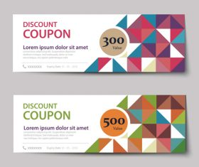 Geometry polygon with gift voucher vector 05